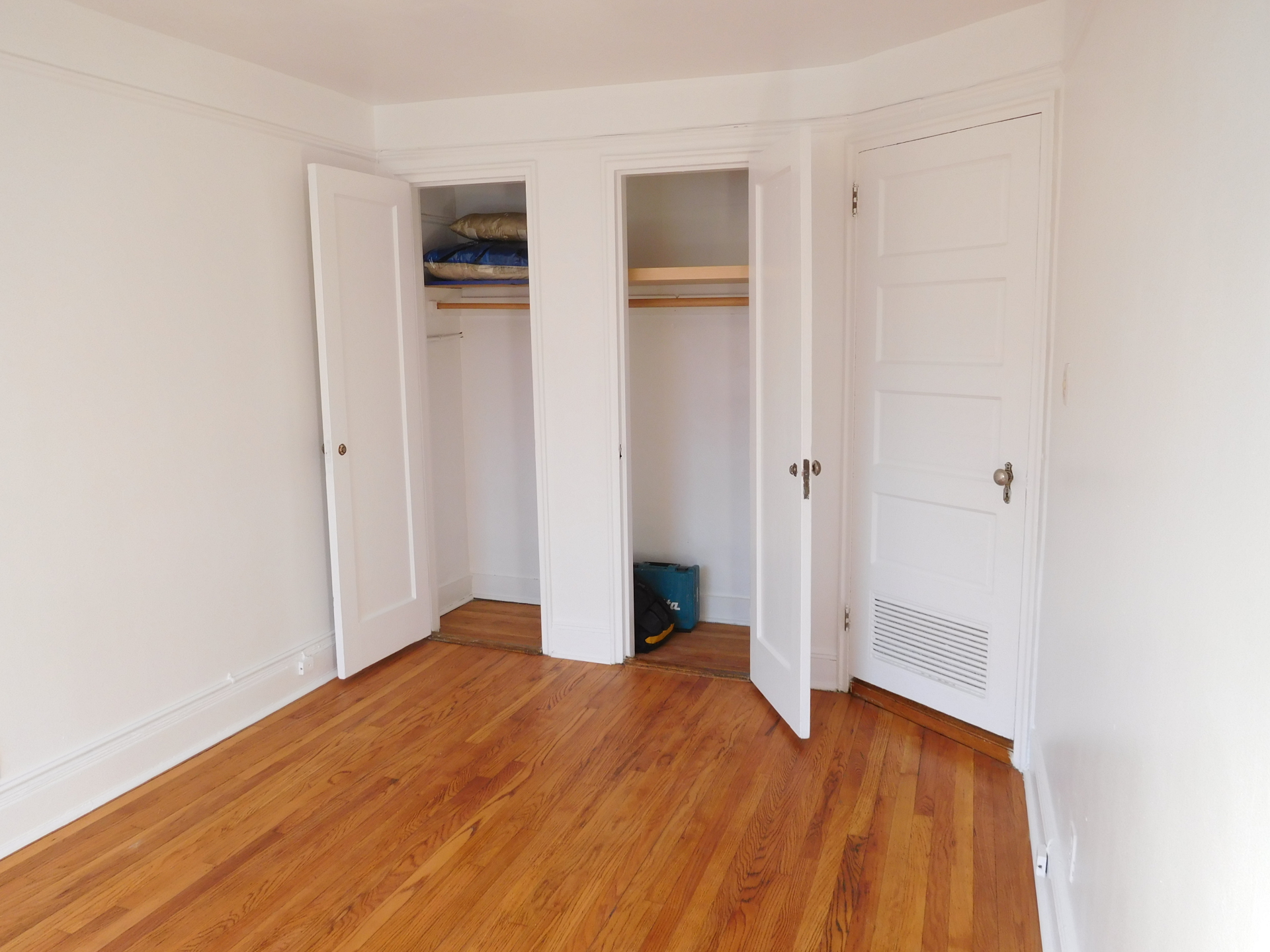 Bedroom with Separate Closets